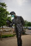 Fort Worth Texas Monument to Swine Flu