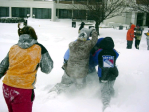 snowball fun with kids