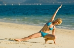 Woman on Beach exercising Dusan Zidar
