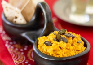 MedHelp Healthy Curried Pumpkin Hummus Healthy Holiday recipe Vandana Bhide